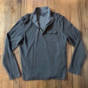 Banana Republic Charcoal Grey 1/4 Zip Sweater